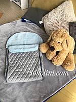 Конверт зимний для новорождённых с мехом