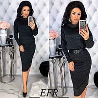 Женский костюм с юбкой ЕФ/-460 - Черный, фото 1