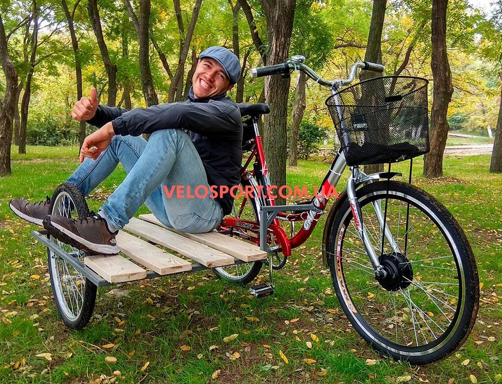 Электровелосипед с боковым прицепом Салют F-5 24 дюйма 350W 36v