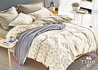 Комплект постельного белья Вилюта (Viluta) сатин люкс Tiare светло-бежевый