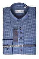 Рубашка VELS 9364/3 отд. дет. (1, голубая+ тём. син.клет.)
