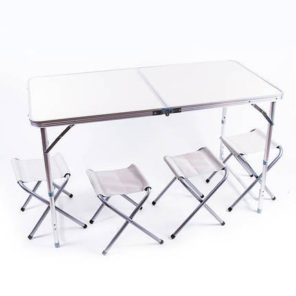 Стол туристический «HX-9004» складной + 4 стула, фото 2