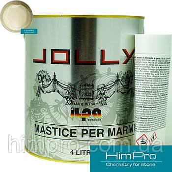 Tixo Paglierino 4L JOLLY Полиэфирный двух-компонентный клей (бежевый 6кг)
