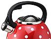 Чайник из нержавеющей стали со свистком Benson BN-706. 3л, фото 4