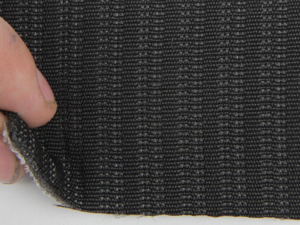 Ткань для сидений автомобиля, цвет темно-серый, на поролоне и сетке (для центральной части) толщина 4мм