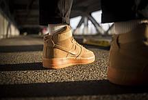 Мужские кроссовки Nike Air Force 1 Mid Flax ( Реплика ), фото 3
