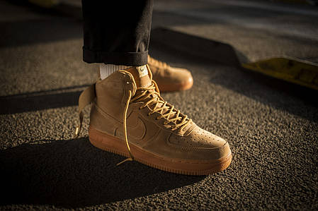 Мужские кроссовки Nike Air Force 1 Mid Flax ( Реплика ), фото 2