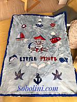 Одеяло для ребенка из испанского кроля с норкой