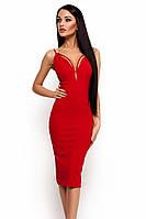 S, M, L / Вечірнє жіноче плаття на бретелях Riviera, червоний