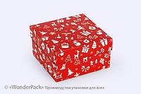 """Коробка. Модель №0003 """"Премиум"""". Код М0003-о15. Новый год, красная"""
