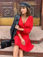 Платье из шифона на запах от украинского производителя, два цвета, размеры 42-52