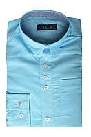 Рубашка VELS отд.дет. (9-10-12-14)3339 (279) (134/9, голубой с отд. т.син. клетка)