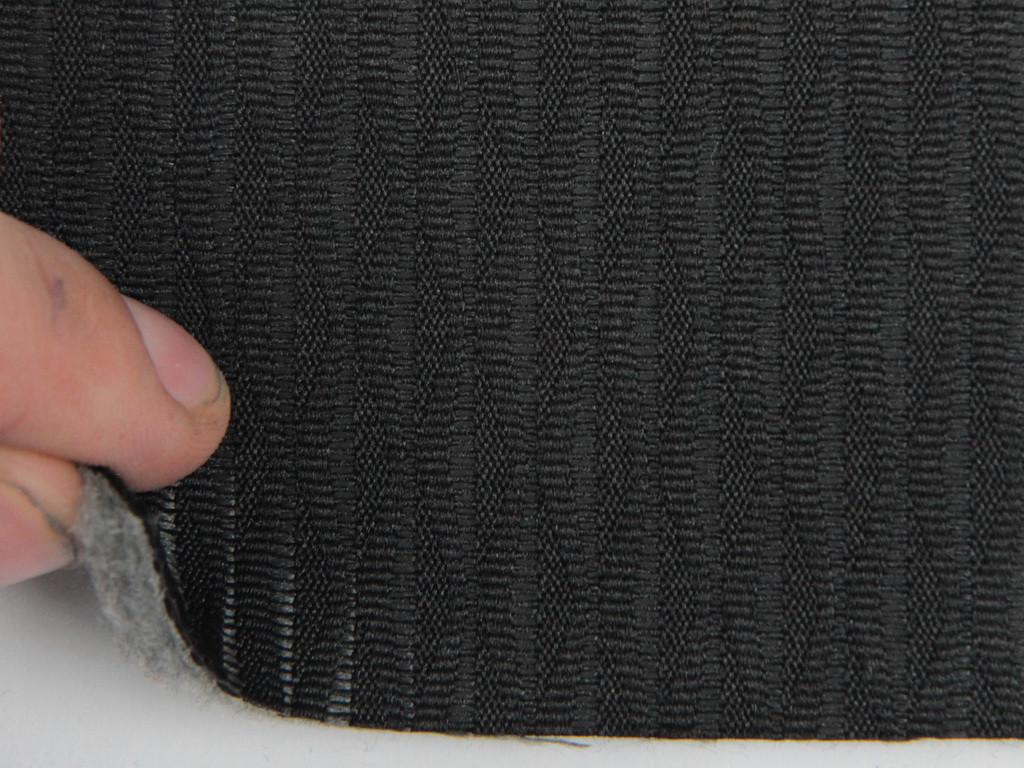 Ткань для сидений автомобиля, черный, на поролоне и войлоке (для центральной части)