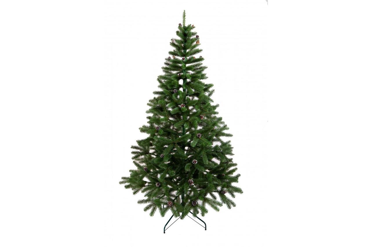 Ель искусственная новогодняя Литая Президентская Зеленая с шишками 180см ЛК-1,80
