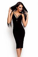 S, M, L / Вечірнє жіноче плаття на бретелях Riviera, чорний