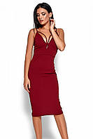 S, M, L / Вечірнє жіноче плаття на бретелях Riviera, марсала