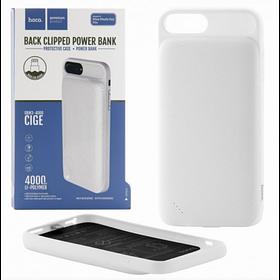 Внешний аккумулятор Power Bank Hoco BW3 Cide back clipped 4000mAh Original iPhone 6+/6s+/7+  White