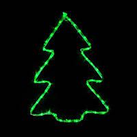 Гірлянда MOTIF Christmas tree Ялинка 60х45см 12 Вт зелена, провід чорний IP44 для вулиці (90012986)