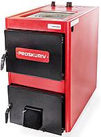 Котел на твердом топливе Проскуров - АОТВ 14К кВт с плитой.