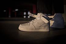 Мужские кроссовки Nike Air Force 1 Mid White ( Реплика ), фото 3