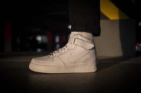 Мужские кроссовки Nike Air Force 1 Mid White ( Реплика ), фото 2
