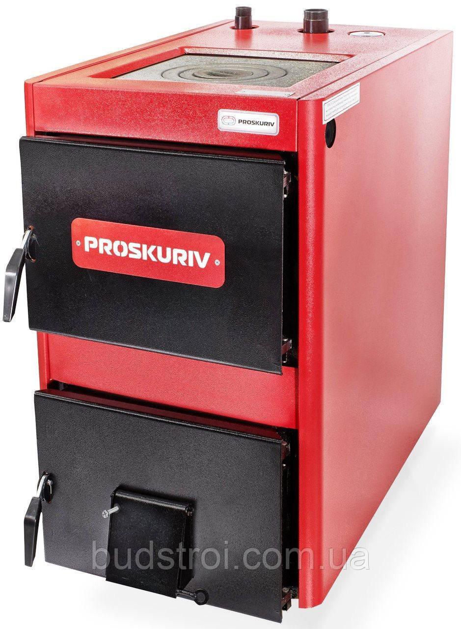 Твердотопливный котел Проскуров АОТВ - 25К кВт с плитой., фото 1