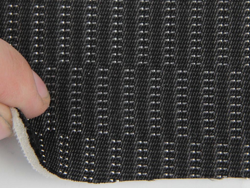 Ткань для сидений автомобиля, черной, на поролоне и сетке (для центральной части)