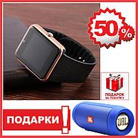 Смарт часы GT08 Smart watch Black ( черный ) умные часы аналог Apple Watch