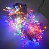 Гирлянда Нить электрическая 240 led, мульти, прозрачный провод, 13м., фото 3