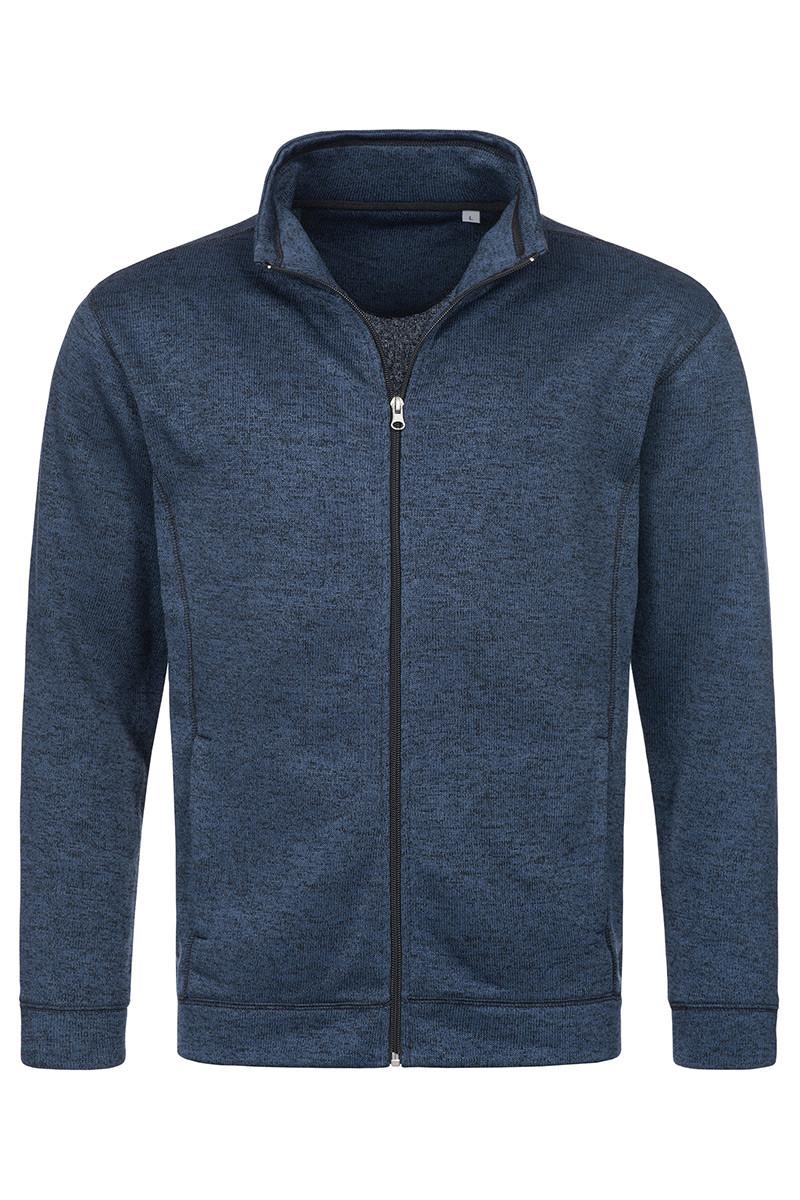 Мужская кофта флисовая тёмно-синий меланж Stedman - MBMCT5850
