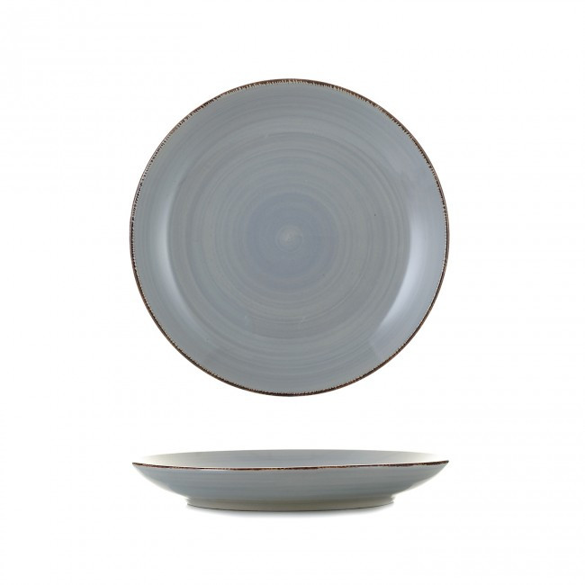 Цветная тарелка закусочная, цвет HLS графит (S1837)