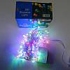 Гирлянда Нить электрическая 200 led, мульти, прозрачный провод, 10,5м., фото 3