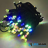 Светодиодная гирлянда Нить RGB 10м 100LED Каучук, фото 4