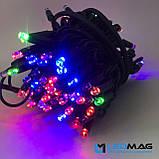 Светодиодная гирлянда Нить RGB 10м 100LED Каучук, фото 2