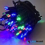 Светодиодная гирлянда Нить RGB 10м 100LED Каучук, фото 5