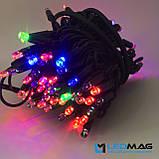 Светодиодная гирлянда Нить RGB 10м 100LED Каучук, фото 6