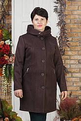 Женское демисезонное пальто Урса бордо 54