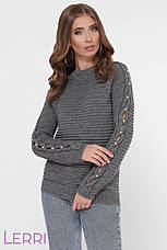 Вязанный стильный женский свитер по фигуре, фото 2