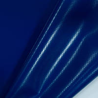 Тентовая ткань синяя 630г/м2