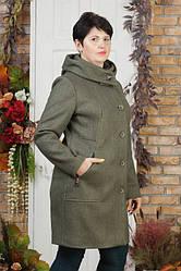 Женское демисезонное пальто Урса бордо 56