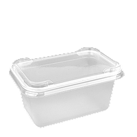 Лоток пластиковый для продуктов + крышка FT360 Н 65  500мл, 25шт