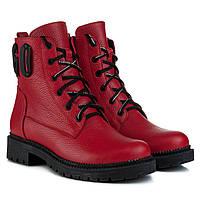 Ботинки женские TEONA (красного цвета, стильные, качественные, удобные)