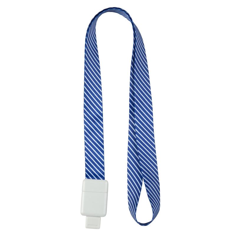 Шнурок для бейджа Axent Office с ретрактором синий 4560-22-a