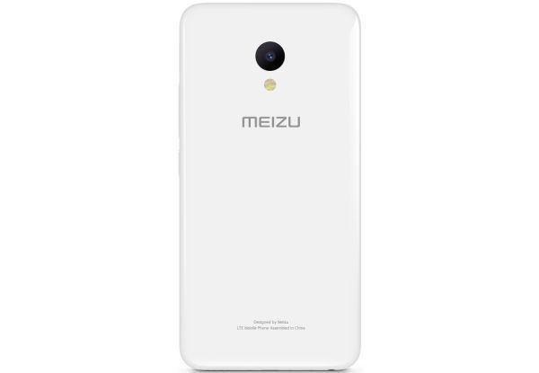 Задняя крышка Meizu M5 (M611), белая, Оригинал