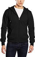 Мужская кофта с капюшоном на молнии черная, кенгуру Stedman - 02205