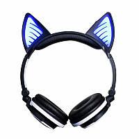 Bluetooth наушники LINX BL108A с кошачьими ушками LED Черные, фото 1