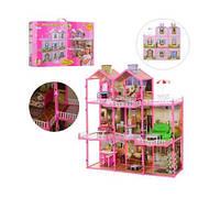 Кукольный домик 6992 (3 этажа, свет, 8 комнат, мебель)