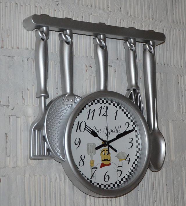 Кухонные часы на стену