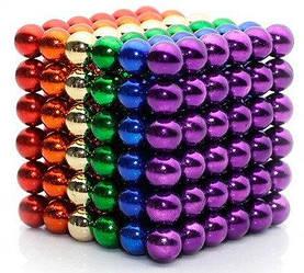 Неокуб Neocube 216 шариков 5мм в боксе MHZ 5738, разноцветный