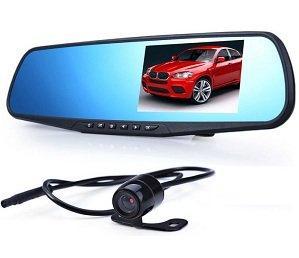Автомобильный видеорегистратор-зеркало заднего вида Good Idea Черный
